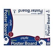 uCreate Premium Poster Board, 2.5' x 2', White, 5/Pack (PCAR38673)