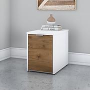 "Bush Business Furniture Jamestown 21.2"" Storage Cabinet with 2 Shelves, Fresh Walnut/White (JTS216FWWHSU)"