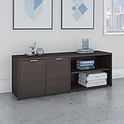 """Bush Business Furniture Jamestown 21.2"""" Low Storage Cabinet with 4 Shelves, Storm Gray (JTS160SG)"""