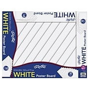 uCreate Poster Board, 2.5' x 2', White, 10/Pack (P5420)
