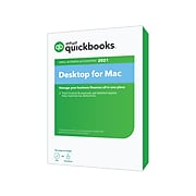 Intuit QuickBooks Desktop for Mac 2021 for 1 Users, Mac OS X, DVD/Download (608512)