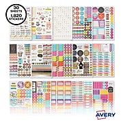 Avery Variety Pack Planner Stickers, Assorted Colors, 1,820/Pack (6780)