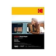 """Kodak Glossy Photo Paper, 8.5"""" x 11"""", 100/Pack (9891-189)"""