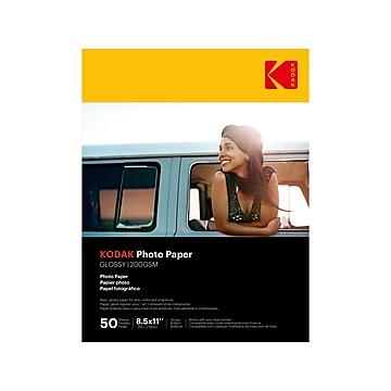 """Kodak Glossy Photo Paper, 8.5"""" x 11"""", 50/Pack (9891-182)"""