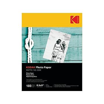 "Kodak Matte Photo Paper, 8.5"" x 11"", 100/Pack (9891-169)"