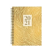 "2021 TF Publishing 6"" x 8"" Planner, Animal Print Gold, Yellow (21-9055)"