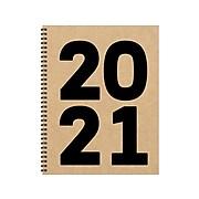 "2021 TF Publishing 8.5"" x 11"" Planner, Kraft Year, Kraft/Black (21-9537)"