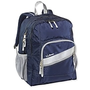 L.L.Bean Deluxe Book Pack Backpack, Solid, Navy (0TXT907000)