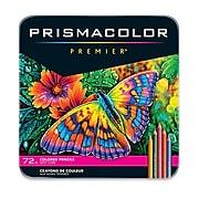 Prismacolor Premier Soft Core Colored Pencils, Assorted Colors, 72/Pack (3599TN)