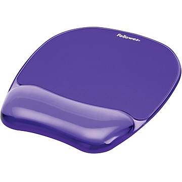Fellowes Crystals Gel Mouse Pad/Wrist Rest Combo, Purple (91441)