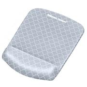 Fellowes PlushTouch Foam Mouse Pad/Wrist Rest Combo, Gray Lattice (9549701)