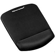 FellowesPlushTouchMouse Pad& Wrist Rest Combination with Microban, Black (9252001)