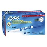Expo Dry Erase Marker, Fine Point, Blue, Dozen (86003)