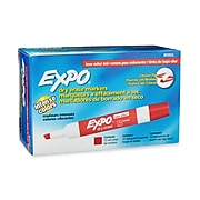 Expo Dry Erase Markers, Chisel Point, Red, Dozen (80002)