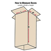 "Heavy-Duty Telescoping Outer Boxes, 48 1/2 x 6 1/2 x 38"", Kraft, 10/Bundle (T48638OUTHD)"