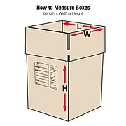 """24"""" x 24"""" x 18"""" Deluxe Moving Boxes, ECT Rated, Brown, 10/Bundle (242418DPB)"""