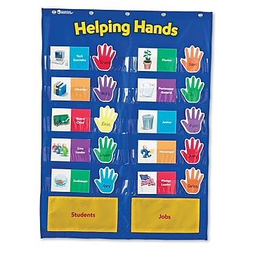 Learning Resources Pocket Chart, Helping Hands (LER2903)