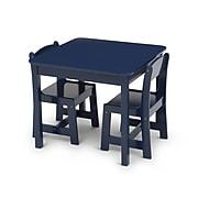 Delta Children MySize 3-Piece Square Activity Table Set, Blue (TT89601GN-295C)