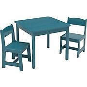 Delta Children MySize 3-Piece Square Activity Table Set, Teal (TT89601GN-7474C)