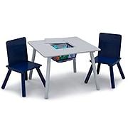 Delta Children 3-Piece Square Activity Table Set, Gray/Navy Blue (TT89114GN-026)