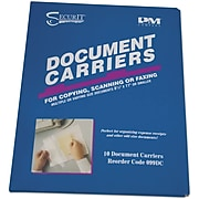 PM Company AccuFax Document Carrier File Jacket, Letter Size, Clear, 10/Pack (099DC)