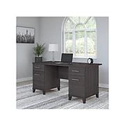 "Bush Furniture Somerset 60"" Office Desk, Storm Gray (WC81528K)"