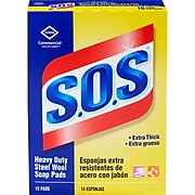S.O.S. Steel Wool Soap Pads, 15 Count (88320)