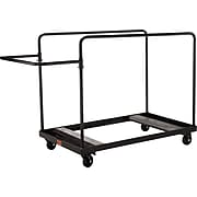 """NPS #DY-71R Folding Table Dolly - Vertical Storage - 71""""R  Table, Brown"""