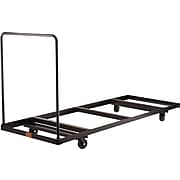 """NPS #DY-3096 Folding Table Dolly - Horizontal Storage - Max 96""""L, Brown"""