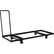 """NPS #DY-3072 Folding Table Dolly - Horizontal Storage - Max 72""""L, Brown"""