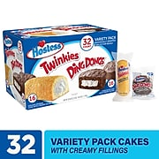 HOSTESS Twinkies And Ding Dongs Variety Pack, 1.31 oz., 32/Box (220-01110)