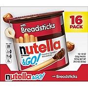 NUTELLA & Go Chocolate Hazelnut Dip with Breadsticks, 1.8 oz., 16/Pack (220-01135)