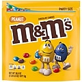 M&M'S Peanut Chocolate Candy, 38 oz Party Size Resealable Bag (MMM55116)