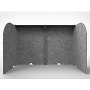 "Ghent Freestanding Desktop Divider, 24""H x 24""W, Silver Polyester (ADS2424SIL)"