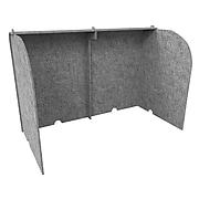 "Ghent Freestanding Desktop Divider, 24""H x 36""W, Silver Polyester (ADS2436SIL)"