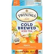 Twinings of London Cold Brewed Peach Tea Bags, 20/Box (F10055)