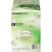 Twinings of London Pure Peppermint Herbal Tea, Keurig K-Cup Pods, 24/Box (TNA85813)
