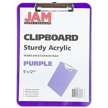 JAM Paper Standard Plastic Clipboard, Purple (340926881)