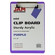 JAM Paper Plastic Clipboard, Memo Size, Purple (331CPMPU)
