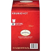 Twinings of London English Breakfast Tea, Keurig K-Cup Pods, 24/Box (TNA85780)
