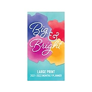 """2021-2022 BrownTrout 3.5"""" x 6.5"""" Planner, Big & Bright Large Print, Multicolor (9781975427535)"""