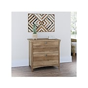"""Bush Furniture Salinas 2-Drawer Lateral File Cabinet, Letter/Legal, Reclaimed Pine, 31.73"""" (SAF132RCP-03)"""