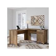"Bush Furniture Salinas 60"" L-Shaped Desk, Reclaimed Pine (SAD160RCP-03)"