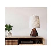 Adesso Grayson 3-Way CFL Table Lamp, Walnut Birch Wood/White (1508-15)