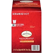 Twinings of London English Breakfast Decaf Tea, Keurig K-Cup Pods, 24/Box (F08757)