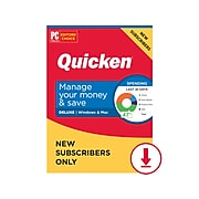 Quicken Deluxe 2021 for 1 User, Windows/Mac/Android/iOS, Download (170355)