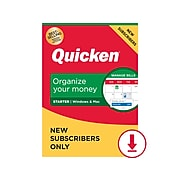 Quicken Starter 2021 for 1 User, Windows/Mac/Android/iOS, Download (170354)