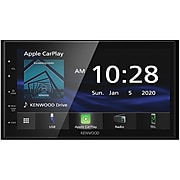 KENWOOD DMX47S Double-DIN In-Dash 6.8-Inch Multimedia Receiver w/Bluetooth, Apple CarPlay, Android Auto, & SiriusXM Ready, Black