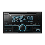 KENWOOD DPX504BT Double-DIN In-Dash CD Receiver with Bluetooth, Amazon Alexa, and SiriusXM Ready, Black
