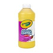 Crayola Artista II Washable Tempera Paint, Yellow, 16 oz. (54-3115-034)